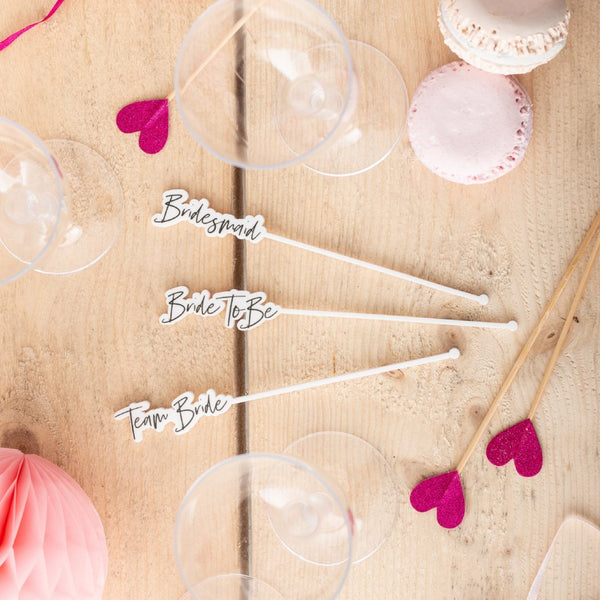 Hen Night Printed Cocktail Stirrers Set - Funky Laser