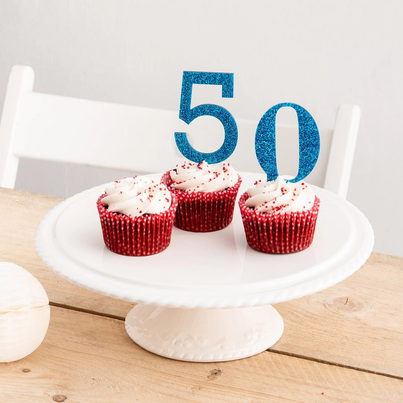 Simple Number Cake Toppers