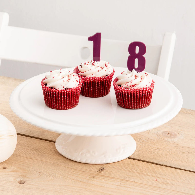 Chunky Number Cake Toppers - Funky Laser