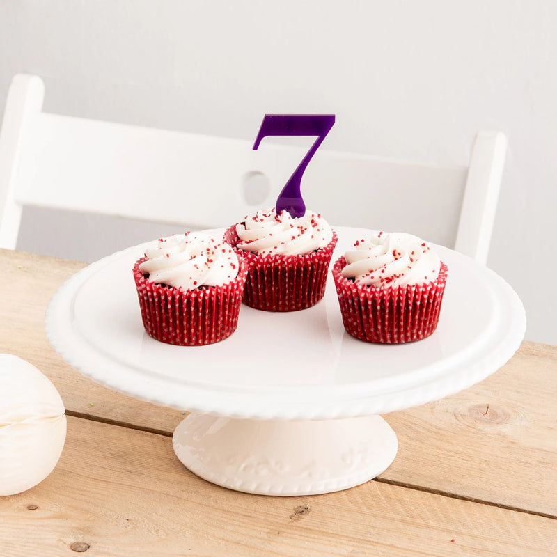 Elegant cupcake number cake topper decorations