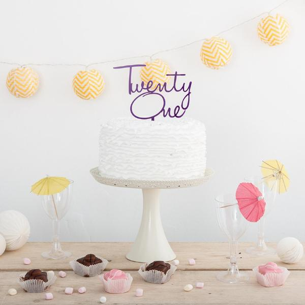 Birthday Number Cake Topper - Funky Laser