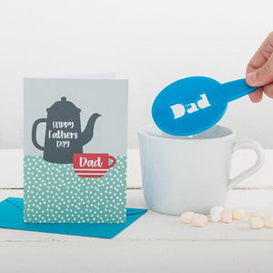 Personalised Father's Day Coffee Stencil And Card Gift - Funky Laser