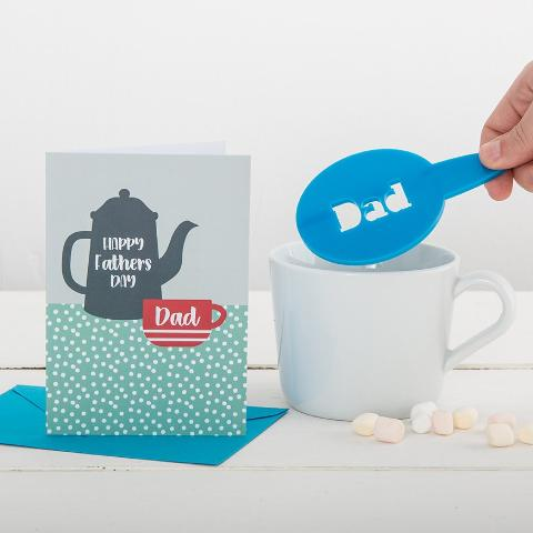 Personalised Father's Day Coffee Stencil And Card Gift