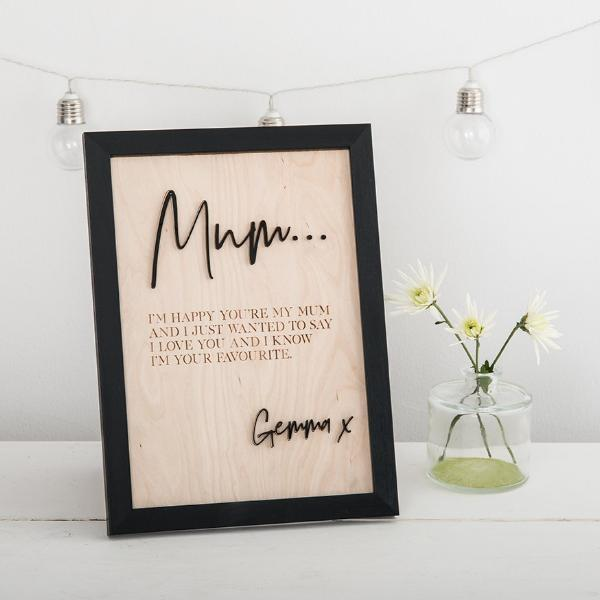 Personalised Message Poem Print Gift for Mum - Funky Laser