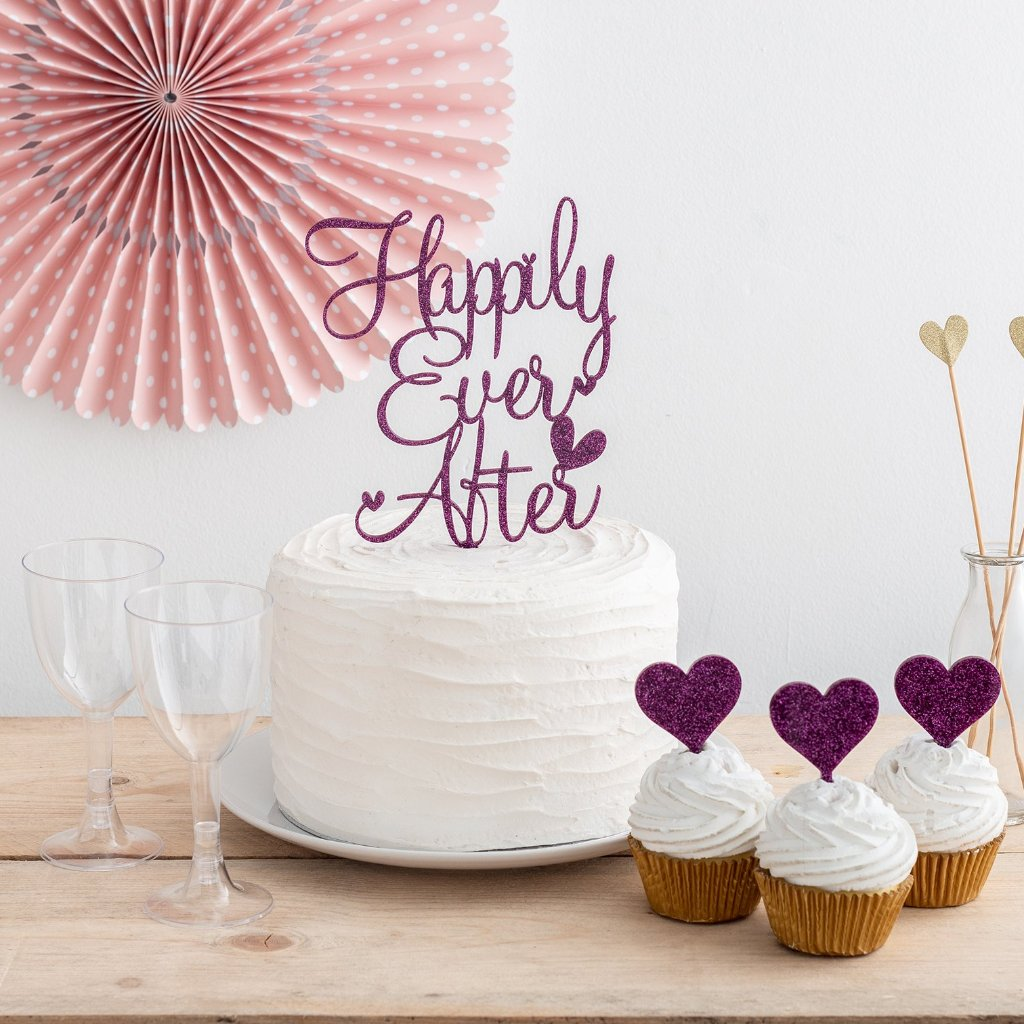 Happily Ever After Wedding Cake Topper Funky Laser