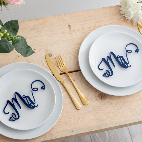 Mr And Mr Same Gender Wedding Place Settings Table Decoration - Funky Laser