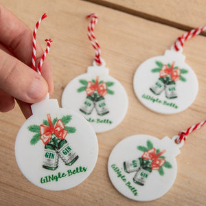 Custom Printed Christmas Hanging Decorations - Funky Laser