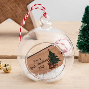 Personalised Gift Tag Christmas Bauble - Funky Laser