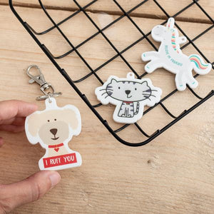 Custom Printed White Acrylic Charms Set of 50 - Funky Laser