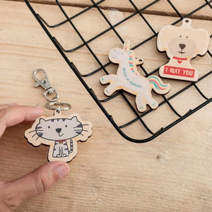Custom Printed Wooden Charms Set of 50 - Funky Laser