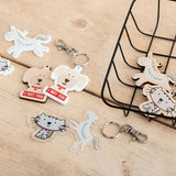 Custom Printed White Acrylic Charms - Funky Laser