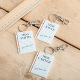 Personalised Teachers Keyring Thank You Gift - Funky Laser