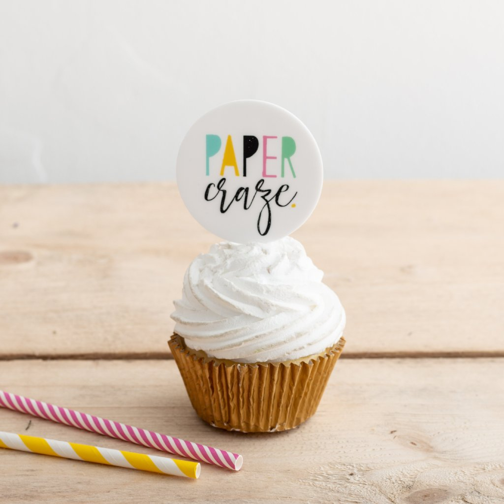 Custom Printed Branded Cupcake Toppers