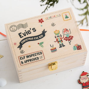 Personalised Nutcracker And Ballerina Christmas Eve Box - Funky Laser
