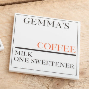 Personalised Drinks Street Sign Coaster Set - Funky Laser