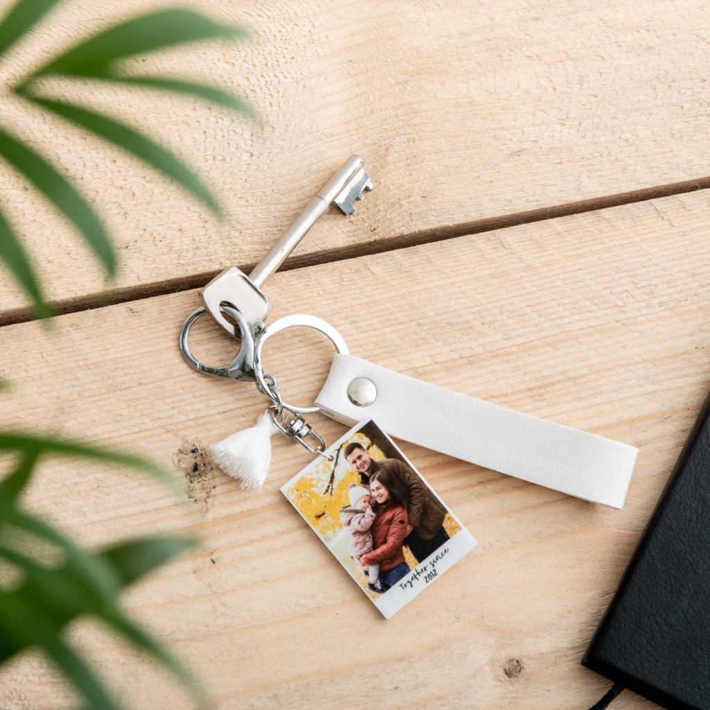 Personalised Photograph Keyring - Funky Laser