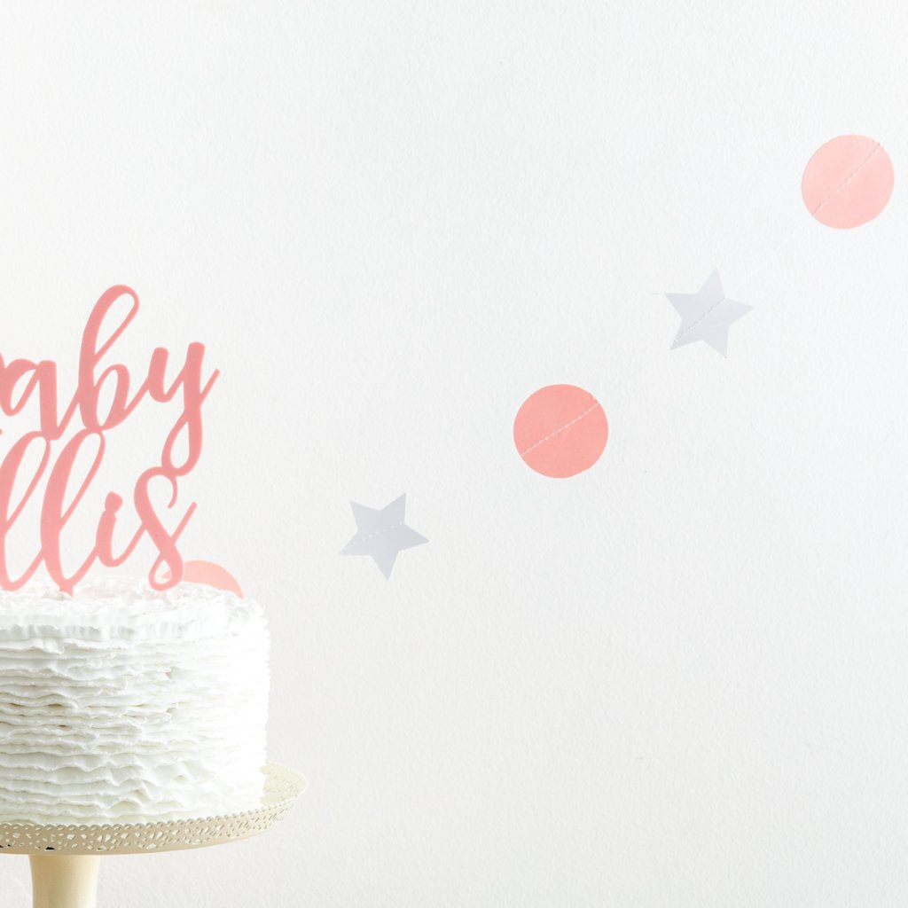 Circle and Star Bunting - Funky Laser