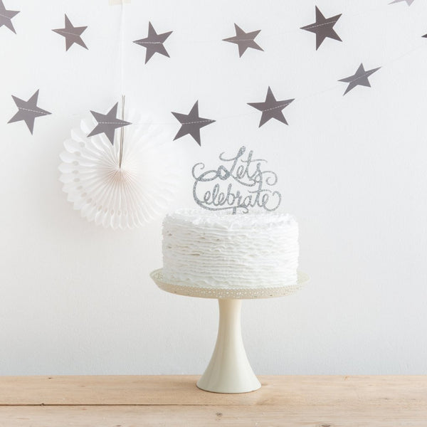 Let's Celebrate Party Cake Topper