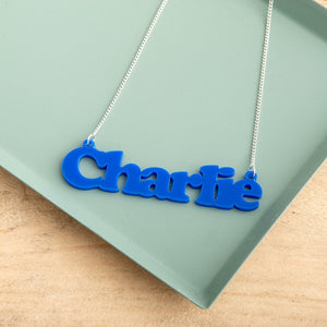 Personalised Bold Style Name Necklace - Funky Laser