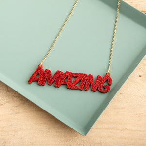 Personalised Comic Style Name Necklace - Funky Laser