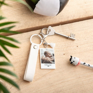 Personalised New Baby Photograph Keyring - Funky Laser