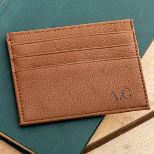 Personalised Leather Card Holder With Secret Message - Funky Laser