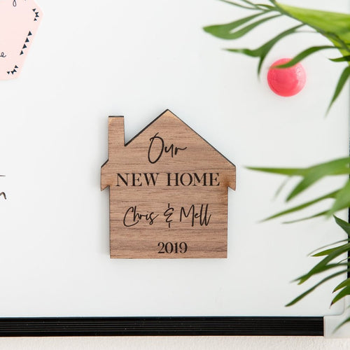 Personalised New Home Wooden Magnet - Funky Laser