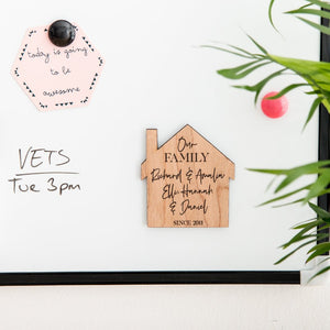 Personalised Family Wooden Fridge Magnet - Funky Laser