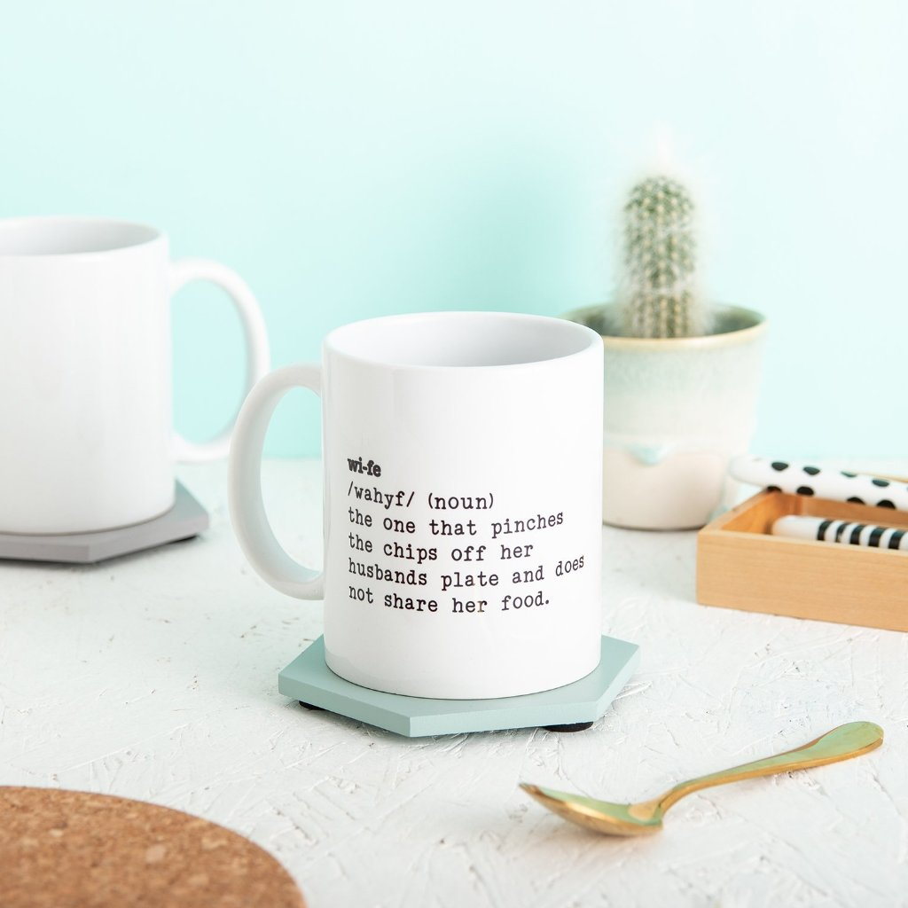 Personalised Wife Definition Mug Gift - Funky Laser