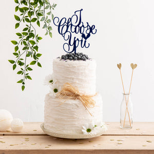 I Choose You Cake Topper - Funky Laser