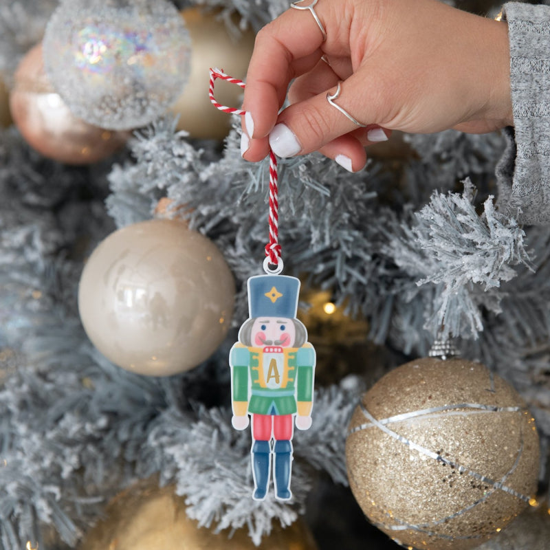 Christmas Nutcracker Initial Tree Decoration