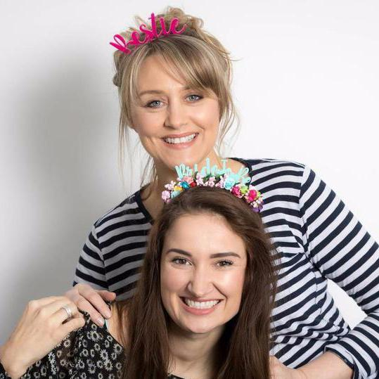 Bride To Be And Bestie Headband Crown Gift Set - Funky Laser