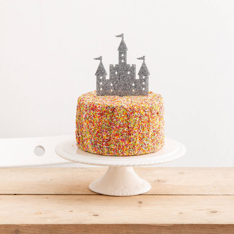 Princess Castle Birthday Party Cake Topper - Funky Laser