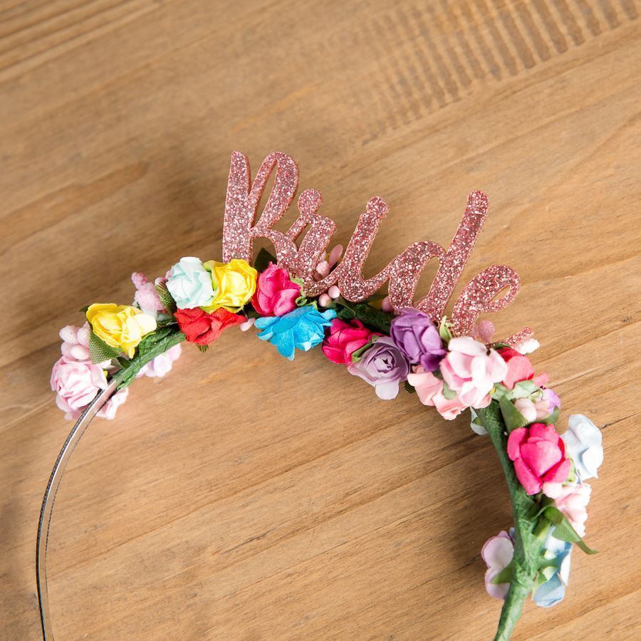 Colourful Bride Floral Headband - Funky Laser