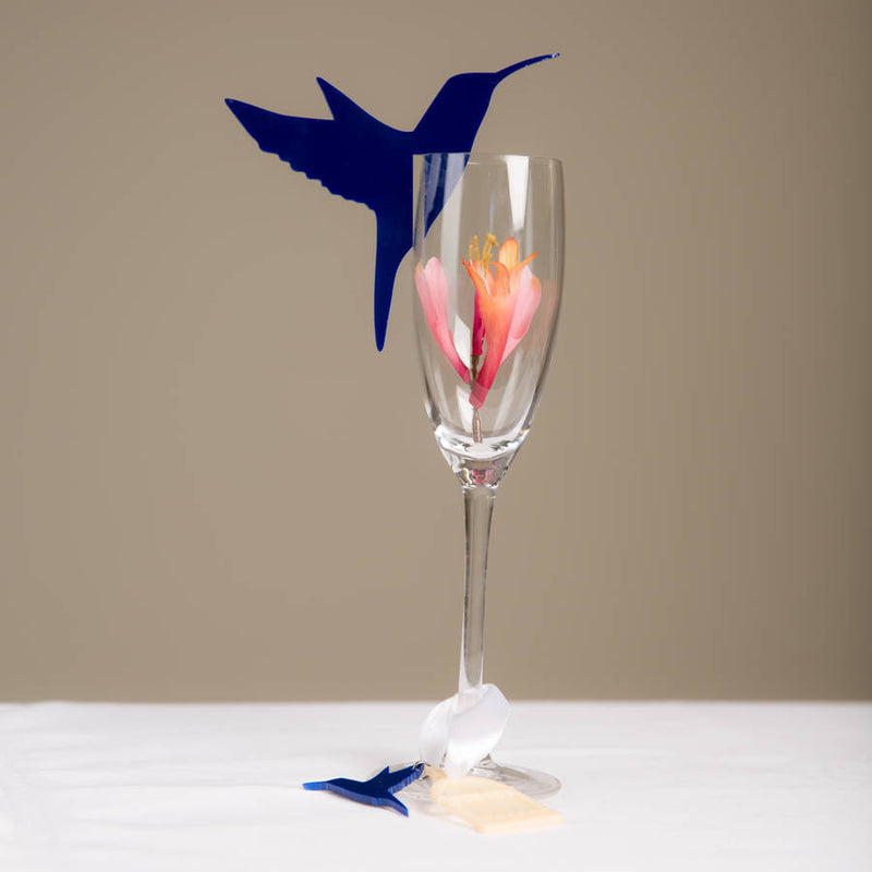 Hummingbird Wine Glass Toppers and Charms Set Of 25 - Funky Laser