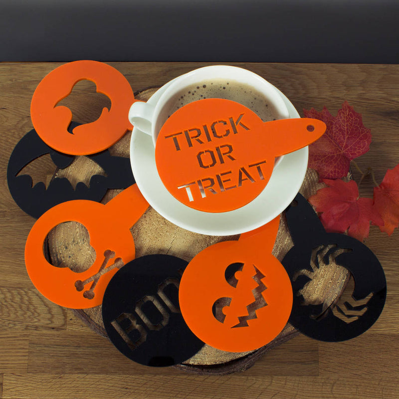Halloween Spooky Cake And Coffee Stencil Duster Set - Funky Laser