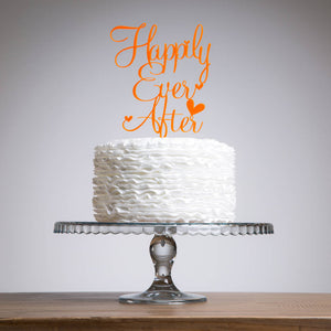 Happily Ever After Wedding Cake Topper - Funky Laser