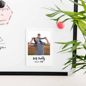 Personalised Father's Day Photo Magnet With Message