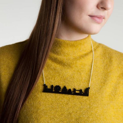 London Skyline Acrylic Necklace - Funky Laser