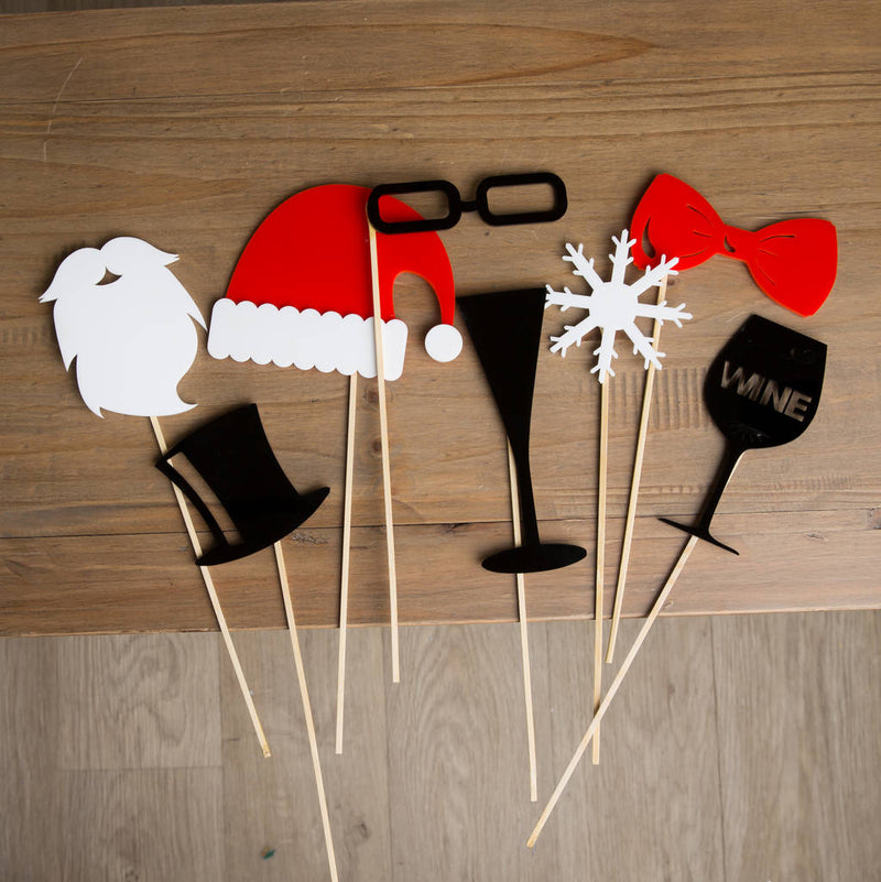 Acrylic Christmas Party Photo Booth Props - Funky Laser