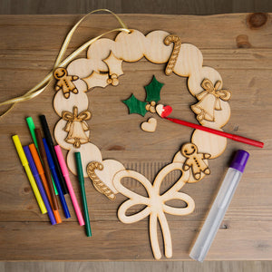 Christmas Wreath Kids Activity - Funky Laser