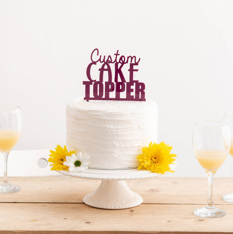 Personalised and Custom Made Party Wedding Or Birthday Cake Topper - Funky Laser