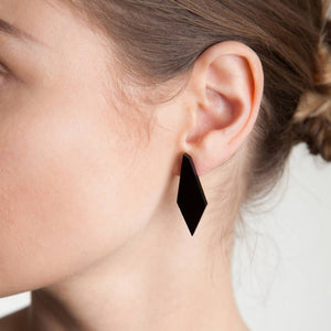 Geometric Drop Stud Earrings - Funky Laser