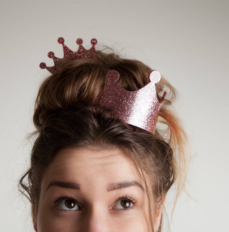 Glitter Crown And Tiara Set - Funky Laser