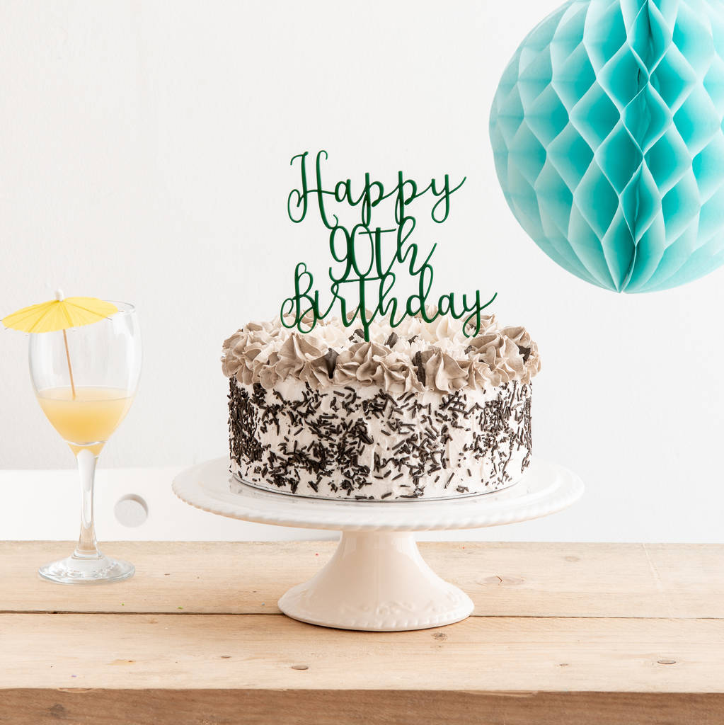 Groovy Happy 90Th Birthday Cake Topper Funky Laser Personalised Birthday Cards Paralily Jamesorg