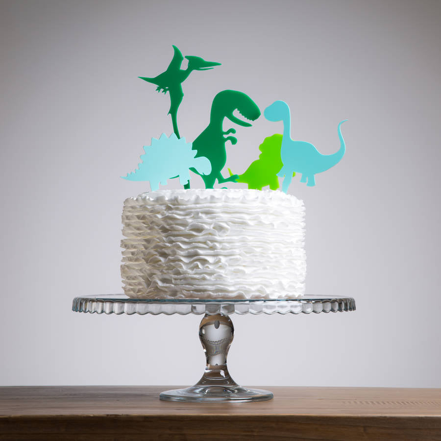 Mini Dinosaurs Party Cake Topper Collection - Funky Laser