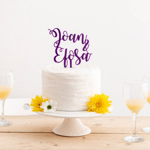 Personalised Two Words Or Name Cake Topper - Funky Laser