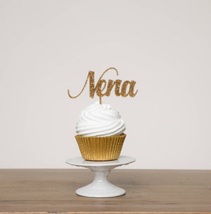 Personalised Script Name Cupcake Topper - Funky Laser
