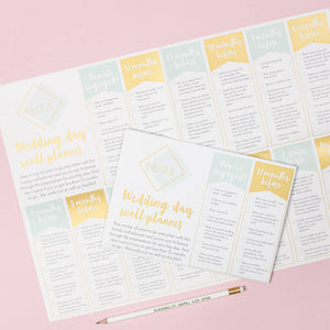 Wedding Wall Planner Engagement Gift - Funky Laser