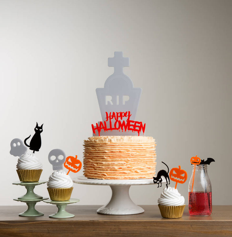 Halloween Table Party Cake Topper Decoration Set - Funky Laser